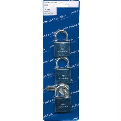 Cadenas anse inox 30 mm, lot de 3