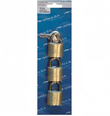 Cadenas anse laiton 30 mm, lot de 3